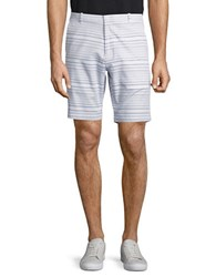 Calvin Klein Slim Fit Striped Chino Shorts White