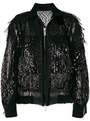 Sacai Sequin Bomber Jacket Black
