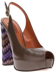 Missoni Open Toe Pump Grey
