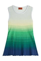 Missoni Sleeveless Knit Ombre Top Multicolor