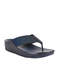 Fitflop Crystal Toe Post Sandals Female Navy