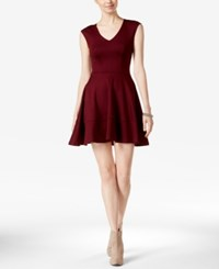 Bar Iii Cap Sleeve Fit And Flare Dress Only At Macy's Vintage Wine