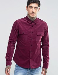 Another Influence Cord Shirt Red