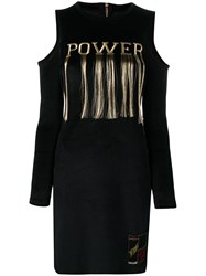 Roberto Cavalli Embroidered 'Power' Dress Black