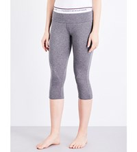Tommy Hilfiger Fitness Cropped Stretch Jersey Leggings Grey Heather