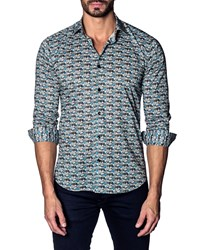 Jared Lang Modern Fit Cars Long Sleeve Shirt Multi