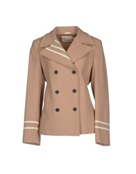Trou Aux Biches Coats And Jackets Full Length Jackets Women Camel