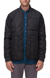 Tavik Men's Fullton Zip In Compatible Quilted Bomber Jacket Black