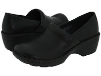 Born Toby Black Full Grain Leather Women's Clog Shoes
