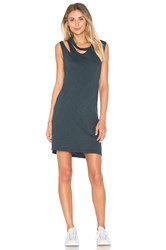 Lna Double Cut Tank Dress Green