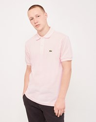 Lacoste Short Sleeve Polo Shirt Pink