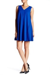 Abs Collection Pleated Back Trapeze Dress Blue