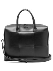 Bottega Veneta Intrecciato Leather Briefcase Black