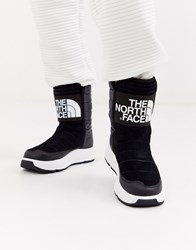 The North Face Ozone Park Winter Pull On Boot In Black White