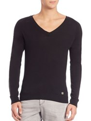 Versace Chain Detail V Neck Sweater Black