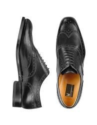 Moreschi Oxford Black Calfskin Wingtip Shoes