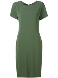 Aspesi Fitted Dress Women Polyester Triacetate 48 Green