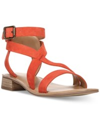 Franco Sarto Alora Flat Strappy Sandals Women's Shoes Orange