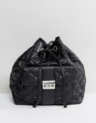 Mango Quilted Duffle Backpack Black