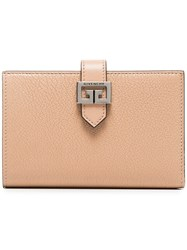 Givenchy Beige Gv3 Medium Goat Skin Wallet Nude And Neutrals
