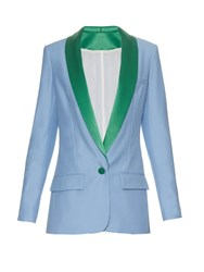 Racil Miami Single Breasted Tuxedo Blazer Light Blue