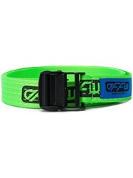 Off White Tape Logo Belt Green