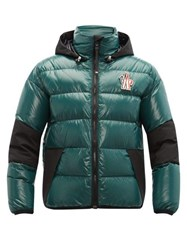 Moncler Grenoble Gollingher Lacquered Down Filled Ski Jacket Dark Green