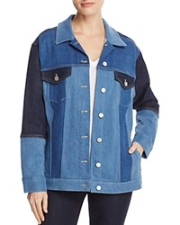 French Connection Denim Patchwork Jacket Indigo Patched