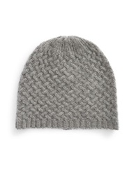 Lord And Taylor Cashmere Knit Beanie Grey