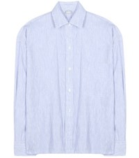 Vince Linen And Cotton Shirt Blue