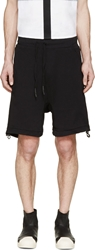 11 By Boris Bidjan Saberi Embroieded Grey Faded Sweat Shorts