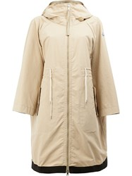 Moncler Pin Hooded Coat Nude Neutrals