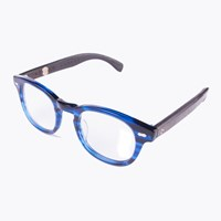 Crosseyes Blue Acetate Wooden Frame