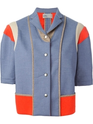 Kolor Panelled Jacket Blue