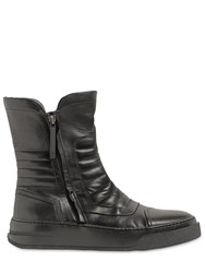 Bruno Bordese Zip Up Leather High Top Sneaker Boots