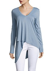 Bcbgmaxazria Solid Heathered Top Shadow Blue