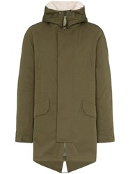 Yves Salomon Hooded Parka Coat Grey