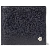 Dunhill Boston Full Grain Leather Billfold Wallet Midnight Blue