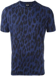 Just Cavalli Animal Print T Shirt Blue