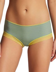Elle Macpherson Body Touch Striped Hiphugger Panty Yellow Grey