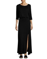 Lamade Luna Dolman Sleeve Maxi Dress Black