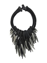 Monies Shard Multi Strand Necklace Black