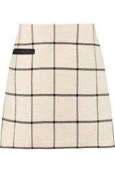 Tory Burch Checked Woven Mini Skirt Ecru