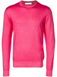 Cruciani Lightweight Sweater Pink And Purple