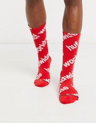Huf Campaign Sock In Red