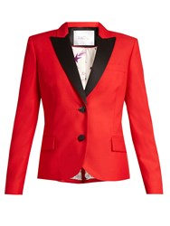 Racil Mick Single Breasted Wool Blend Jacket Red