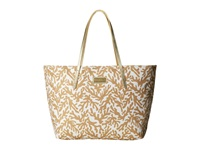 Lilly Pulitzer Resort Tote Natural Treasure Metallic Tote Handbags Beige