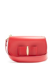 Salvatore Ferragamo Anna Vara Leather Shoulder Bag Red