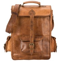 Satch And Fable Handmade Leather Laptop Backpack