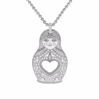 Cartergore Silver Russian Doll Pendant Necklace
